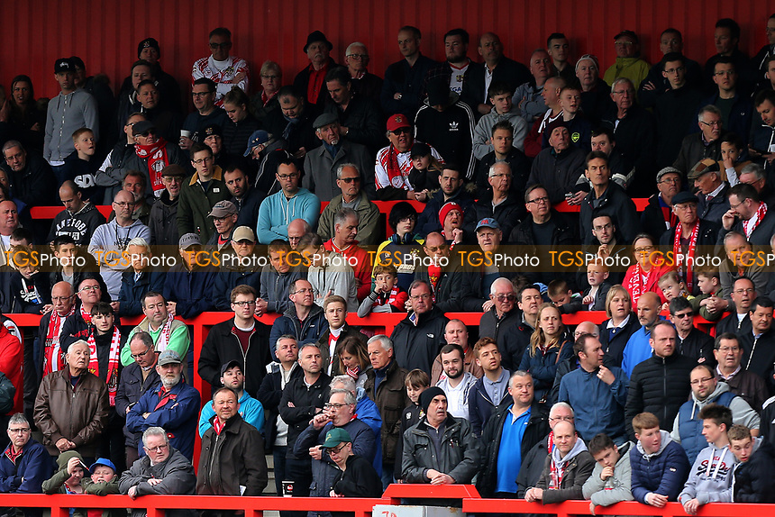 Stevenage fans look on during Stevenage vs Morecambe, Sky Bet EFL League 2 Football at the Lamex Stadium on 14th April 2017