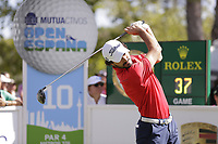 Clement Sordet (FRA) on the 10th tee during the second round of the Mutuactivos Open de Espana, Club de Campo Villa de Madrid, Madrid, Madrid, Spain. 04/10/2019.<br /> Picture Hugo Alcalde / Golffile.ie<br /> <br /> All photo usage must carry mandatory copyright credit (© Golffile | Hugo Alcalde)