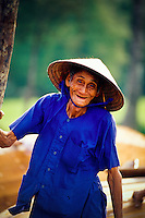 A very friendly old boat builder, Hoi An, Vietnam