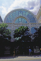 London: Covent Garden, Royal Opera House--Bow St. Facade. Floral Hall, wrought iron tracery. E.M. Barry 1857-58.  Photo '05.