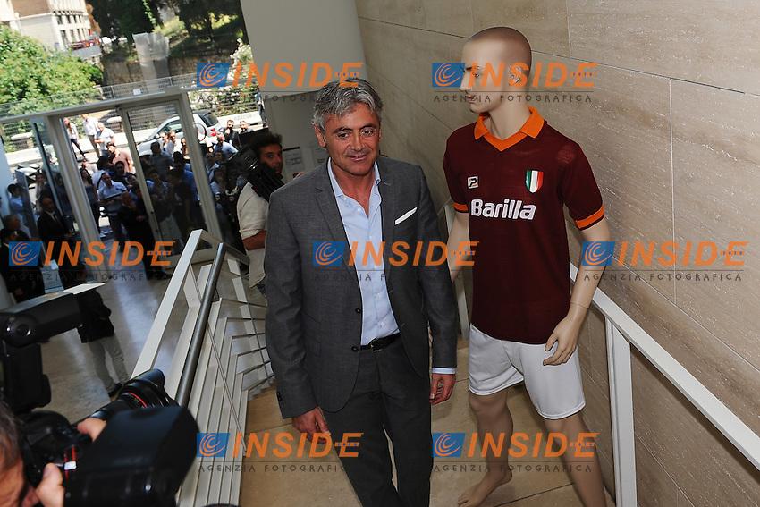 Franco Baldini.Roma 7/6/2012 Ara Pacis.Presentazione maglie AS Roma stagione 2012/2013.Foto Andrea Staccioli Insidefoto