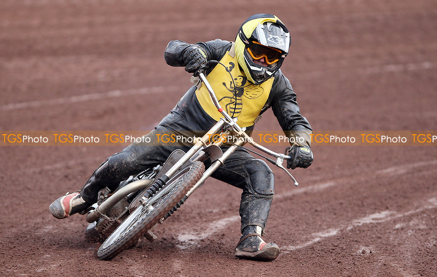 The men in black veterans speedway racing prior to Lakeside Hammers vs Peterborough Panthers, Elite League Speedway at the Arena Essex Raceway, Purfleet - 29/07/11 - MANDATORY CREDIT: Rob Newell/TGSPHOTO - Self billing applies where appropriate - 0845 094 6026 - contact@tgsphoto.co.uk - NO UNPAID USE.