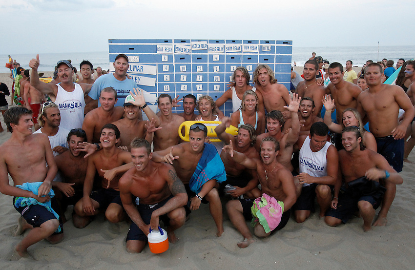 Squan wins the Harry McCarthy Memorial Manasquan Invitational Lifeguard Tournament Aug. 17, 2010.  photo © 2010 ANDREW MILLS DIGITAL MEDIA LLC.