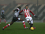 Leon Clarke of Sheffield Utd during the Checkatrade Trophy match at Blundell Park Stadium, Grimsby. Picture date: November 9th, 2016. Pic Simon Bellis/Sportimage