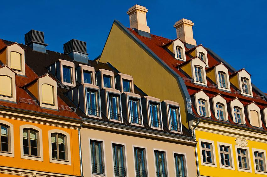 Architectural details, Neumarkt, Dresden, Saxony, Germany