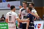 01.12.2018,  Lueneburg GER, VBL, SVG Lueneburg vs TV Rottenburg im Bild die Lueneburger Mannschaft jubelt/ Foto © nordphoto / Witke