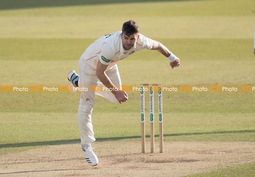 James Anderson of Lancashire CCC during Middlesex CCC vs Lancashire CCC, Specsavers County Championship Division 2 Cricket at Lord's Cricket Ground on 13th April 2019