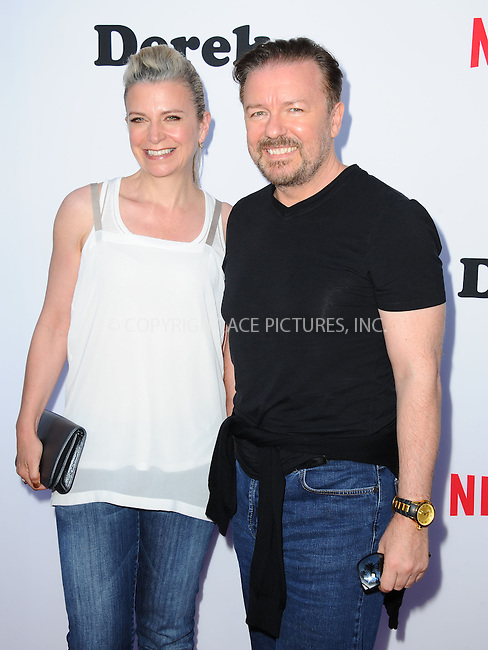ACEPIXS.COM<br /> <br /> May 27 2014, LA<br /> <br /> Actor Ricky Gervais and Jane Fallon (L) at the screening of 'Derek' Season 2 at the Leonard H. Goldenson Theatre on May 27, 2014 in North Hollywood, California.<br /> <br /> <br /> By Line: Peter West/ACE Pictures<br /> <br /> ACE Pictures, Inc.<br /> www.acepixs.com<br /> Email: info@acepixs.com<br /> Tel: 646 769 0430