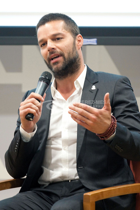 Ricky Martin presents a study about Human Trafficking in Puerto Rico. The study was sponsored by the Ricky Martin Foundation.