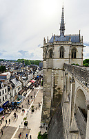 France, Indre-et-Loire (37), Amboise, château d'Amboise, chapelle Saint Hubert