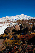 Mt Ruapehu with Tukino Peak to the right, Central Plateau, Tongariro National Park, North Island, New Zealand
