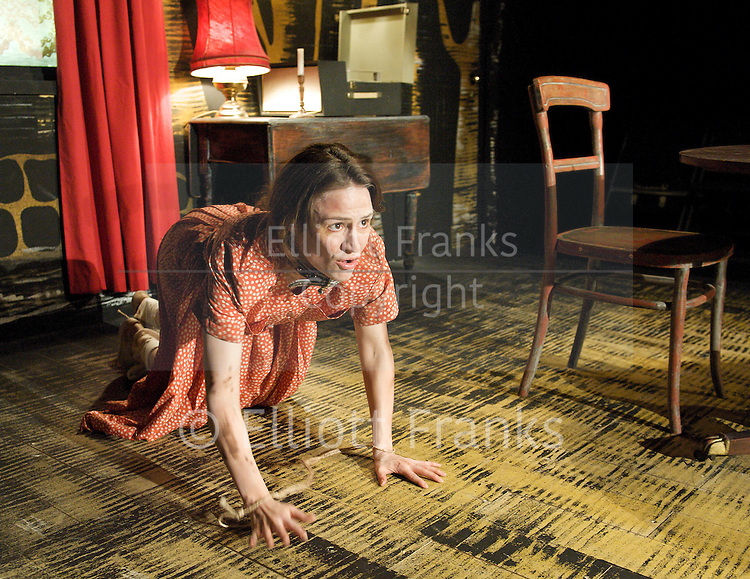 Hundreds and Thousands<br /> by Lou Ramsden <br /> at the Soho Theatre Upstairs studio, London, Great Britain <br /> press photocall<br /> 24th June 2011 <br /> <br /> <br /> <br /> Nadine Lewington (as Tiggy)<br /> <br /> <br /> Photograph by Elliott Franks