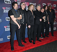 11 March 2018 - Inglewood, California - Bon Jovi. 2018 iHeart Radio Awards - Press Room held at The Forum. <br /> CAP/ADM/BT<br /> &copy;BT/ADM/Capital Pictures