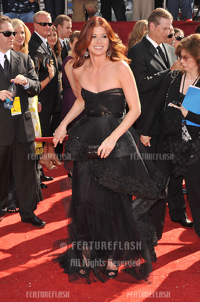 Debra Messing at the 2008 Primetime Emmy Awards at the Nokia Live Theatre. .September 21, 2008  Los Angeles, CA..Picture: Paul Smith / Featureflash