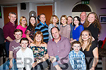 John Dillane of Mounthawk, seated centre, celebrates his BIG 50 with his family in the Imperial Hotel on Friday night last.