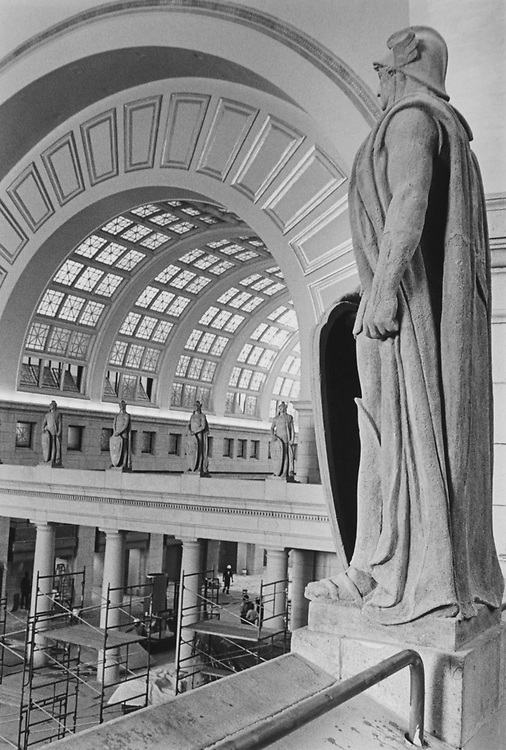 Legionnaire statue at Washington Union Station, in October 2. (Photo by Andrea Mohin/CQ Roll Call via Getty Images)