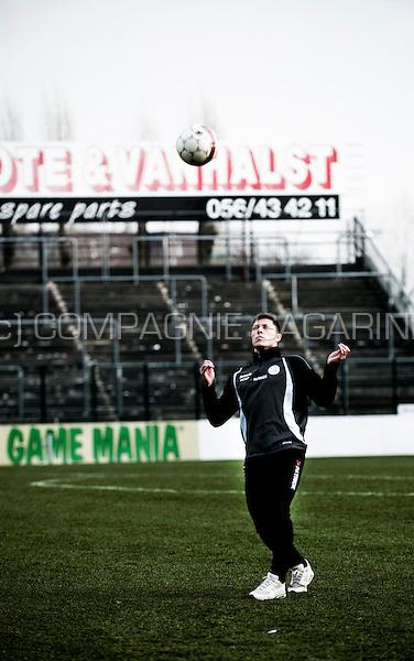 French football player Jonathan Delaplace (Belgium, 19/02/2013)