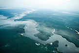 BRAZIL,  Amazon Jungle landscape with morning fog, shot from an airplane