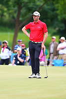 Bradley Dredge looks relaxed on the 5th green during the BMW PGA Golf Championship at Wentworth Golf Course, Wentworth Drive, Virginia Water, England on 27 May 2017. Photo by Steve McCarthy/PRiME Media Images.