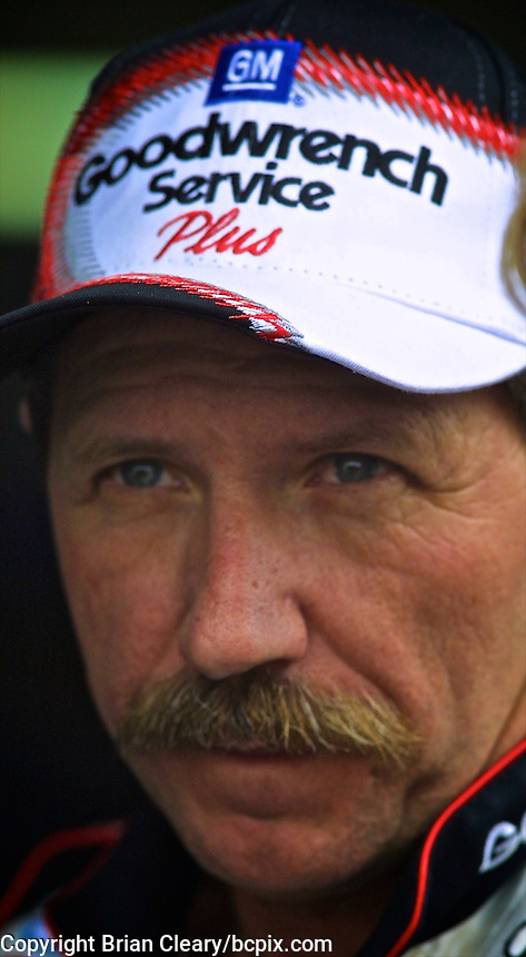 Dale Earnhardt is shown during practice for the Daytona 500, Daytona International Speedway, Daytona Beach, FL, February, 2001.  (Photo by Brian Cleary/www.bcpix.com)