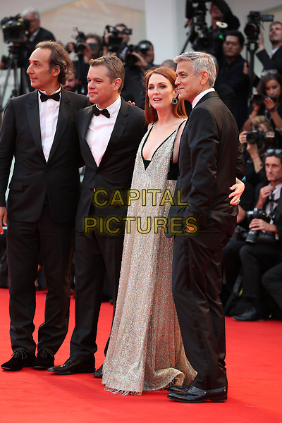 VENICE, ITALY - SEPTEMBER 02: Matt Damon, Julianne Moore, George Clooney - arrivals at the 'Suburbicon' screening during the 74th Venice Film Festival at Sala Grande on September 2, 2017 in Venice, Italy.<br /> CAP/GOL<br /> &copy;GOL/Capital Pictures