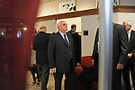 Mikhail Gorbachev, the last premier of the Soviet Union, arrives at the Ronald Reagan Museum at Eureka College, the alma matter of President Reagan, in Eureka, Illinois on March 27, 2009.  Gorbachev is to receive an honorary doctorate from the college, calling Reagan a partner whom he trusted.