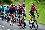 Team Ineos with Chris Froome (GBR) on the front of the peloton during Stage 1 of the Criterium du Dauphine 2019, running 142km from Aurillac to Jussac, France. 9th June 2019<br /> Picture: ASO/Alex Broadway | Cyclefile<br /> All photos usage must carry mandatory copyright credit (© Cyclefile | ASO/Alex Broadway)