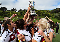 North Harbour players celebrate winning the women's final v Central. National Hockey League Finals Day action, National Hockey Stadium, Wellington, New Zealand. Sunday 23 September 2018. Photo: Simon Watts/www.bwmedia.co.nz/Hockey NZ