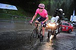 Tejay Van Garderen (USA) EF Education First in action during a torrential downpour near the finish of Stage 7 of the Criterium du Dauphine 2019, running 133.5km from Saint-Genix-les-Villages to Les Sept Laux - Pipay, France. 15th June 2019.<br /> Picture: Mario Stiehl/Radsport | Cyclefile<br /> All photos usage must carry mandatory copyright credit (© Cyclefile | Mario Stiehl/Radsport)