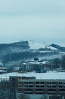 The Liberty University campus is photographed after a snowstorm on December 10, 2018. (Photo by Joel Coleman)