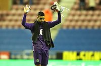 Blackburn Rovers' David Raya at the end of today match<br /> <br /> Photographer Rachel Holborn/CameraSport<br /> <br /> The EFL Sky Bet Championship - Wigan Athletic v Blackburn Rovers - Wednesday 28th November 2018 - DW Stadium - Wigan<br /> <br /> World Copyright © 2018 CameraSport. All rights reserved. 43 Linden Ave. Countesthorpe. Leicester. England. LE8 5PG - Tel: +44 (0) 116 277 4147 - admin@camerasport.com - www.camerasport.com