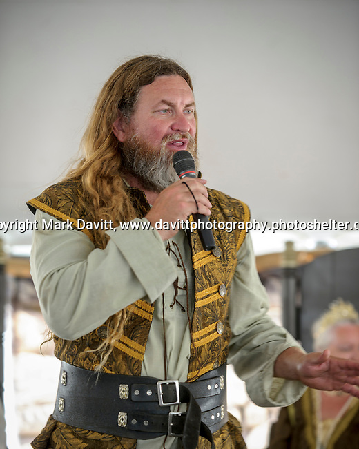 The Warren County Fair grandstand got very medieval July 27 when the nationally-known Knights of Valour performed a jousting tournament for a nearly packed house. The evening started with a VIP The Nobles Feast in full character a costumes.