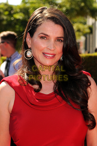 Julia Ormond.2012 Creative Arts Emmy Awards - Arrivals held at the Nokia Theatre L.A. Live, - Los Angeles, California, USA, 15th September 2012..emmys portrait headshot red  crows feet wrinkles .CAP/ADM/BP.©Byron Purvis/AdMedia/Capital Pictures.
