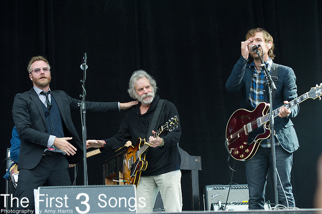 Bob Weir of the Grateful Dead and Aaron Dessner of The National performs at the Outside Lands Music & Art Festival at Golden Gate Park in San Francisco, California.
