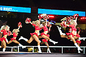 MIAMI, FL - JANUARY 27: Kansas City Chiefs cheerleaders dance during the NFL Super Bowl ( LIV)(54) Opening Night at Marlins Park on January 27, 2020  in Miami, Florida. ( Photo by Johnny Louis / jlnphotography.com )