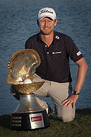 Justin harding (RSA) poses with the trophy after the final round of the Commercial Bank Qatar Masters, Doha Golf Club, Doha, Qatar. 10/03/2019<br /> Picture: Golffile | Phil Inglis<br /> <br /> <br /> All photo usage must carry mandatory copyright credit (&copy; Golffile | Phil Inglis)