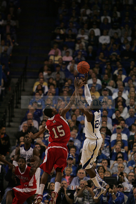 The UK Men's Basketball's 72-70 win over Miami University in the first second at Rupp Arena on Monday, Nov. 16, 2009.  Photo by Britney McIntosh | Staff