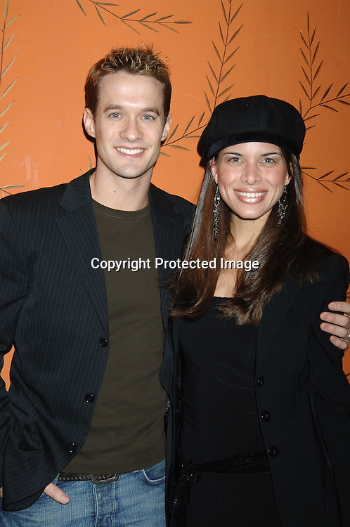 Matthew and Natalie Metzer ..at the One Life To Live Christmas Party at LQ on     December 12, 2005. ..Photo by Robin Platzer, Twin Images