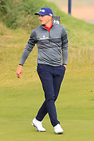 Matt Wallace (ENG) on the 3rd green during Round 2 of the Alfred Dunhill Links Championship 2019 at Kingbarns Golf CLub, Fife, Scotland. 27/09/2019.<br /> Picture Thos Caffrey / Golffile.ie<br /> <br /> All photo usage must carry mandatory copyright credit (© Golffile | Thos Caffrey)