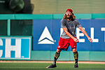 15 August 2017: Washington Nationals outfielder Jayson Werth works out prior to a game against the Los Angeles Angels at Nationals Park in Washington, DC. The Nationals defeated the Angels 3-1 in the first game of their 2-game series. Mandatory Credit: Ed Wolfstein Photo *** RAW (NEF) Image File Available ***