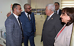 Palestinian President Mahmoud Abbas attends the opening of Hclinic Specialty Hospital, in the West Bank city of Ramallah, Sep. 14, 2019. Photo by Thaer Ganaim