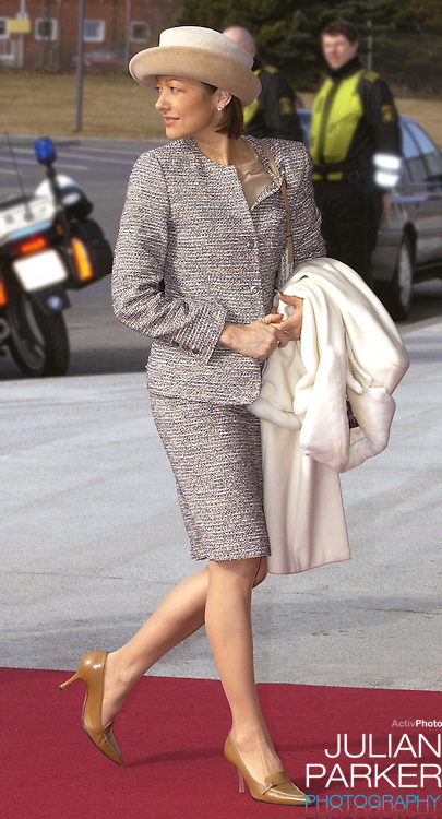 Arrival at Copenhagen Airport during the State Visit of H.E Mr Ion Iliescu, The President of Romania. Princess Alexandra of Denmark attends..
