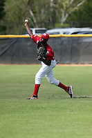 Franklin Reyes participates in the Dominican Prospect League 2014 Louisville Slugger Tournament at the New York Yankees academy in Boca Chica, Dominican Republic on January 20-21, 2014 (Bill Mitchell)