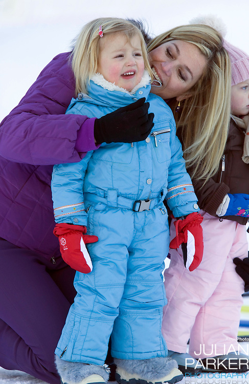 Princess Alexia,with Crown Princess Maxima of Holland attend a Photocall with Members of The Dutch Royal Family during their Winter Ski Holiday in Lech Austria
