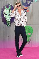 "Samuel Harwood<br /> arrives for the ""Suicide Squad"" premiere at the Odeon Leicester Square, London.<br /> <br /> <br /> ©Ash Knotek  D3142  03/08/2016"