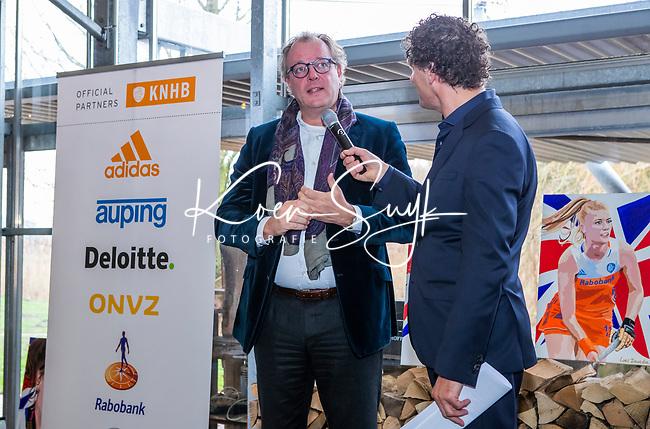 VOGELENZANG -  Leendert Bikker  van Rabobank, Spelerslunch KNHB 2019.   COPYRIGHT KOEN SUYK
