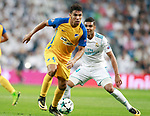 Real Madrid's Carlos Henrique Casemiro (r) and Apoel FC's Igor De Camargo during Champions League Group H match 1. September 13,2017. (ALTERPHOTOS/Acero)