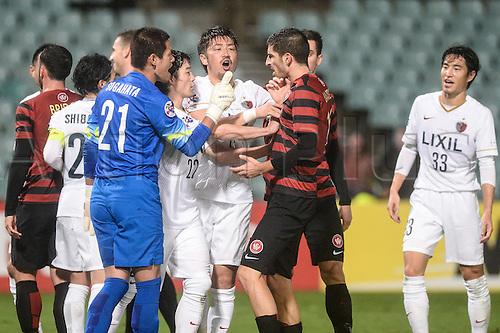 21.04.2015. Sydney, Australia. AFC Champions League. Western Sydney Wanderers versus Kashima Antlers. Wanderers midfielder Iacopo La Rocca upsets the Kashima defence. Kashima won 2-1.