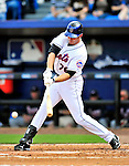 2 March 2010: New York Mets' first baseman Ike Davis at bat against the Atlanta Braves during the Opening Day of Grapefruit League play at Tradition Field in Port St. Lucie, Florida. The Mets defeated the Braves 4-2 in Spring Training action. Mandatory Credit: Ed Wolfstein Photo