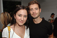 Zelda Williams, Julian Morris==<br /> LAXART 5th Annual Garden Party Presented by Tory Burch==<br /> Private Residence, Beverly Hills, CA==<br /> August 3, 2014==<br /> ©LAXART==<br /> Photo: DAVID CROTTY/Laxart.com==
